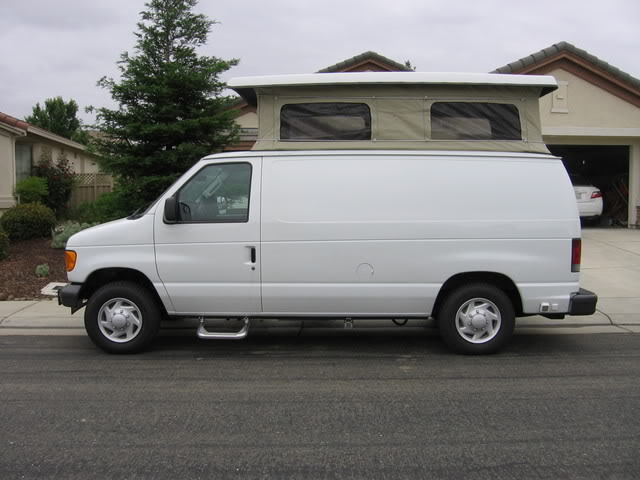 This Is A Photo Of My Home Built RV Conversion 2007 Ford Van With Sportsmobile Top