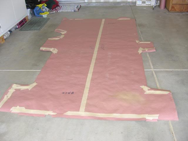 I Then Cut The 15 32 Plywood Flooring Using Pattern Template