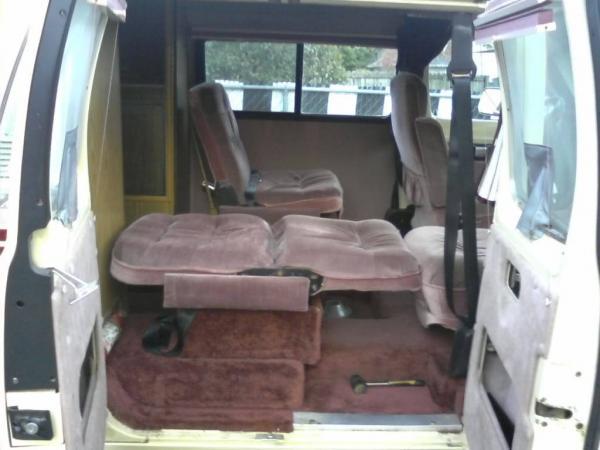 Folding seats in my 1989 Dodge XTRA Van.