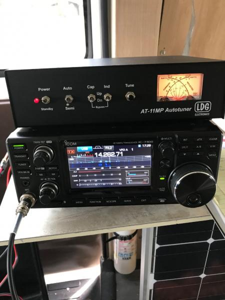 Canadian Field Day Excerise December 28, 2019.  Transmitting from my van, I contacted several ham radio stations in Canada from Western Pennsylvania.  Santa Claus brought me a new Icom 7300 transmitter for Christmas.