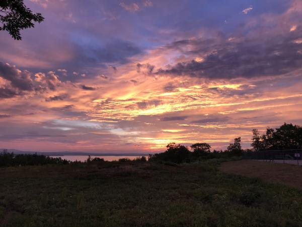 August 2018 Dawn over Bar Harbor Campground