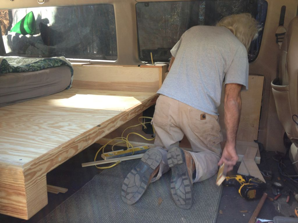 my dad Ken who did the carpentry work
