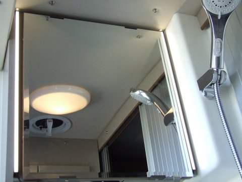 """Pair of narrow SUPER BRIGHT LED strip lights with milk white lens, part # EGLB-NW18: Natural White - 18 inch long.  I mounted one of each of this pair to each side of medicine cabinets mirrored door.  I picked up power from the switch under the cabinet.  The 12 volt """"hot"""" wire going to that switch is short so the wiring from the plus/positive wire of the new lights took some patience to complete.  Re the ground/negative wire, I had to fish a wire behind and down the wall a bit to find a place where I could run a sheet metal screw to chassis ground."""
