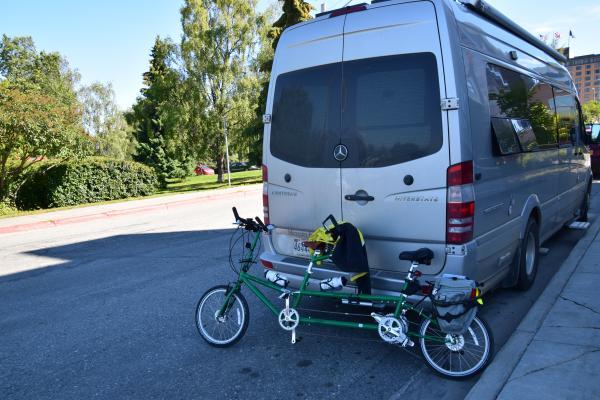 Our Bike Friday folding tandem