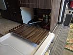 bottom drawer with hinge