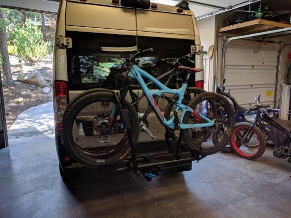 rack with bikes