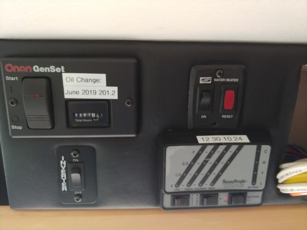 Original configuration of Control Center before installing the Victron
