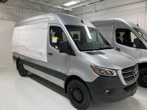 2020 silver van is delivered to ARV. Window cutouts are covered and waiting for window installation.
