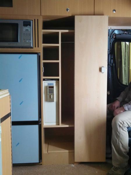 Wardrobe Door Open with safe.