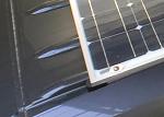 Close up solar spanning ribs.