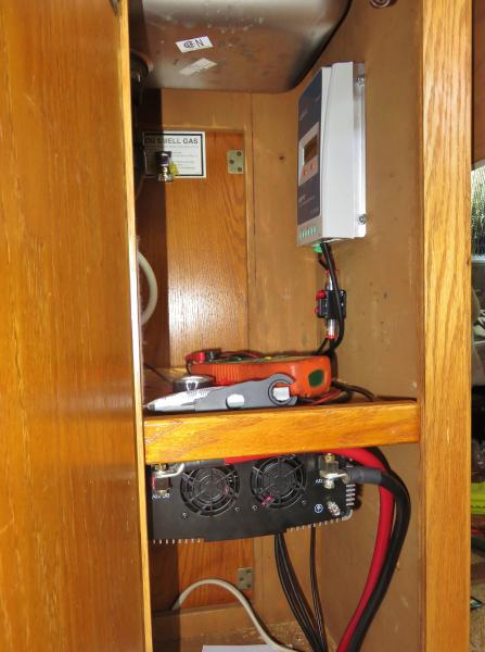 Inverter and solar charge controller installation