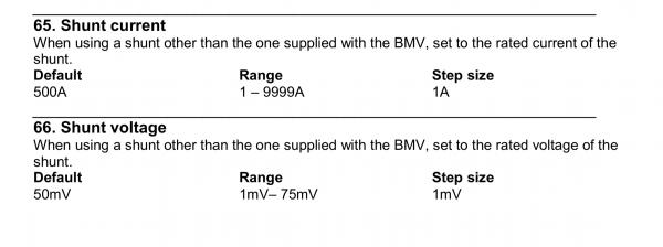 Victron Battery Monitor settings