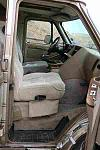 We bought a swivel mount from another 1995 Chevy van and haven't figured out the geometry of the seat yet to install it.