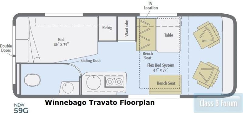 Winnebago Travato 59G Floorplan