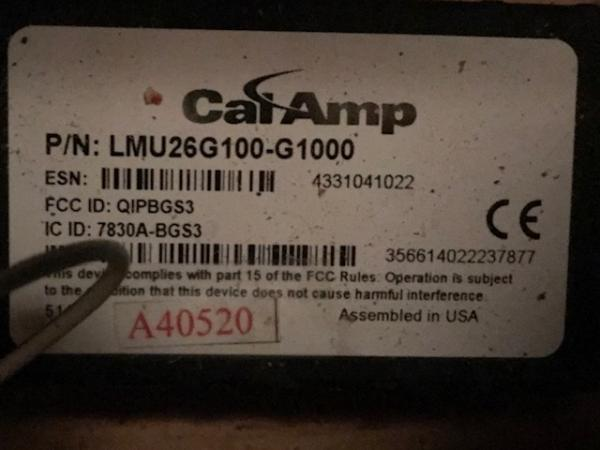 Calamp GPS tracker installed on many RV's 2010-1013 by RV ID Company