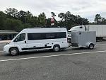 Travato_CargoMate: 5' x 8' cargo trailer... spare tires (trailer and Travato) e-bikes, chairs, grill, etc.