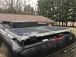 Solar panels mounted