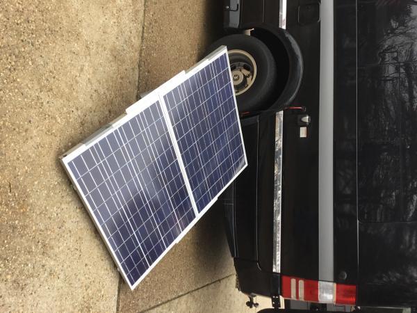 Portable panels deployed