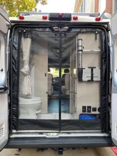Van Screen Installed The Bug Wall rear screen for a 2020 ProMaster High roof.