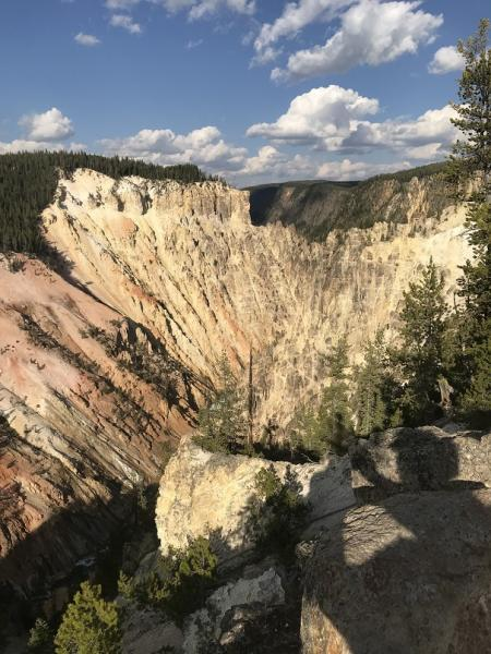 The canyon of the Yellowstone River
