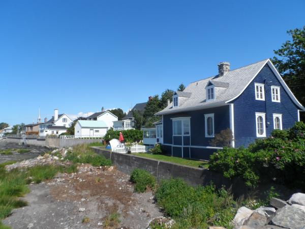 Town on the banks of the St. Lawrence.  Cute architecture and colorful homes.