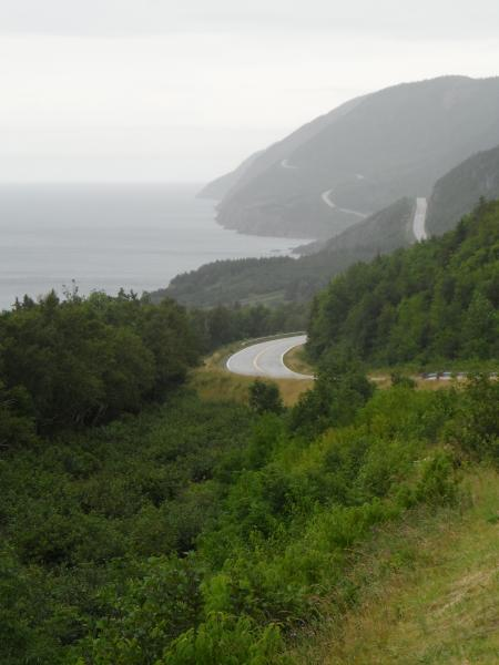 Cabot Trail along the coast.  Rain didn't make the driving much fun.  Beautiful drive, well worth the journey.