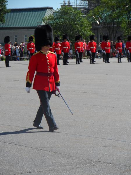 Changing of the Guard at Quebec City.