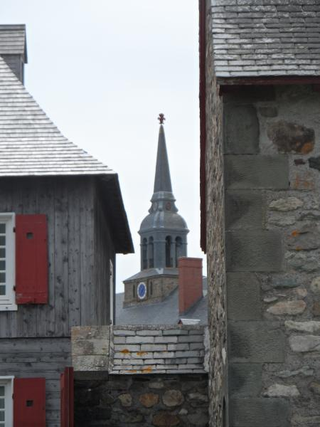 The clock tower at the Fortress Louisbourg.  It's a bit of a Colonial Williamsburg North, well done.  The guide was excellent.  Surprising how New France was governed so differently than New England.