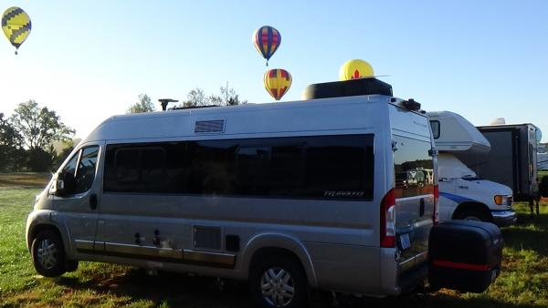 Carolina Balloon Festival, having a good time.  First trip out and it was 3 days of dry camping.