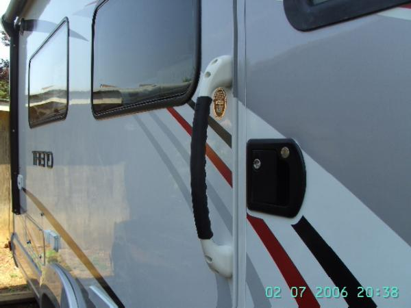 Added Outside Handle to assist entrance into motor home.