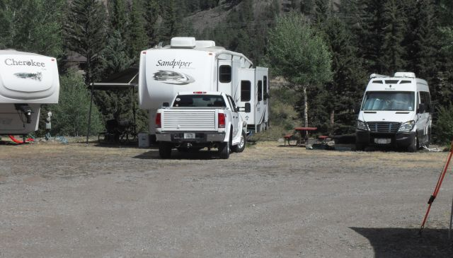 Nice place in South Fork, CO.  Could they have put us between the two 5th wheels?